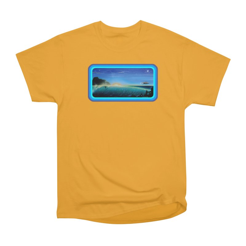 Surf Beyond Women's Heavyweight Unisex T-Shirt by Dirty Donny's Apparel Shop