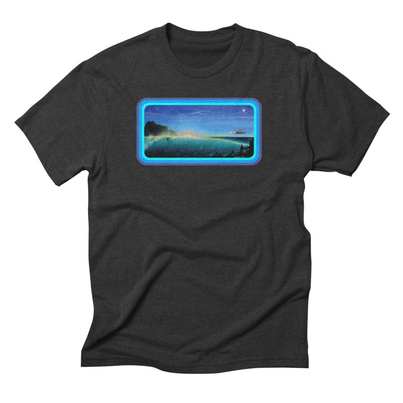 Surf Beyond Men's Triblend T-Shirt by Dirty Donny's Apparel Shop