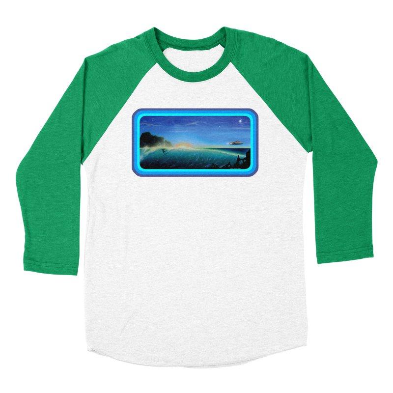 Surf Beyond Women's Baseball Triblend Longsleeve T-Shirt by Dirty Donny's Apparel Shop