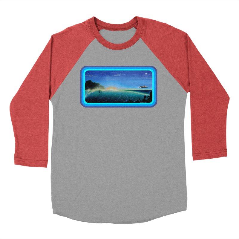Surf Beyond Men's Baseball Triblend Longsleeve T-Shirt by Dirty Donny's Apparel Shop