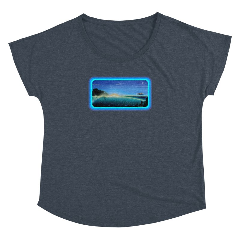 Surf Beyond Women's Dolman Scoop Neck by Dirty Donny's Apparel Shop