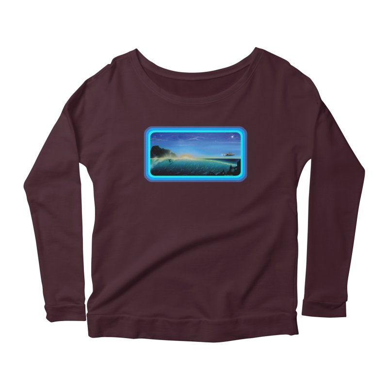 Surf Beyond Women's Scoop Neck Longsleeve T-Shirt by Dirty Donny's Apparel Shop