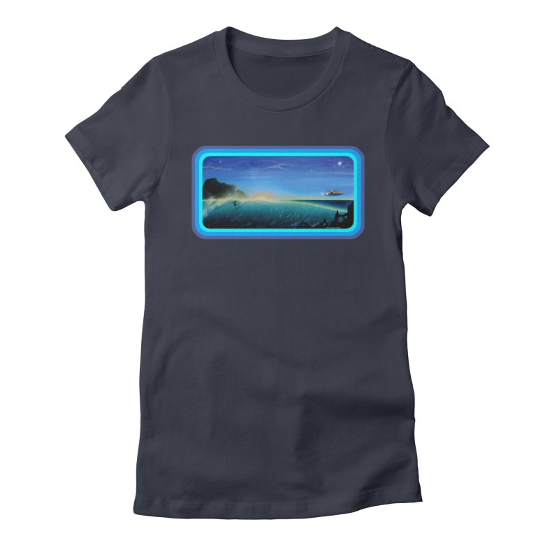 Surf Beyond Women's Fitted T-Shirt by Dirty Donny's Apparel Shop