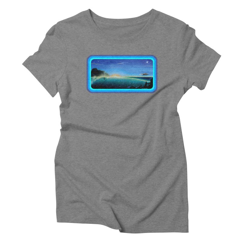 Surf Beyond Women's Triblend T-Shirt by Dirty Donny's Apparel Shop