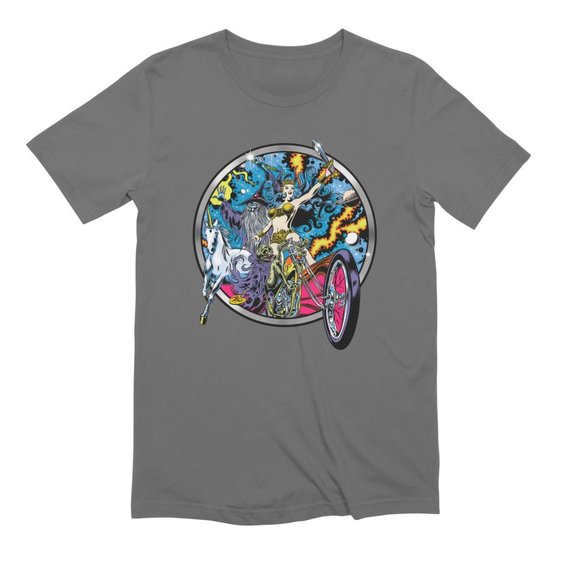 Blacklight Rebellion Men's Extra Soft T-Shirt by Dirty Donny's Apparel Shop