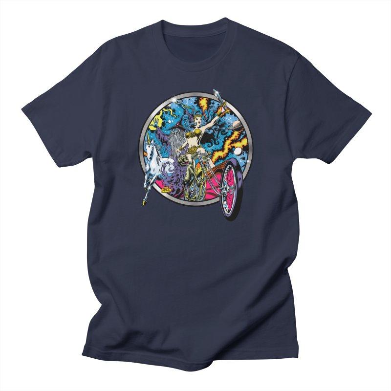 Blacklight Rebellion Men's Regular T-Shirt by Dirty Donny's Apparel Shop