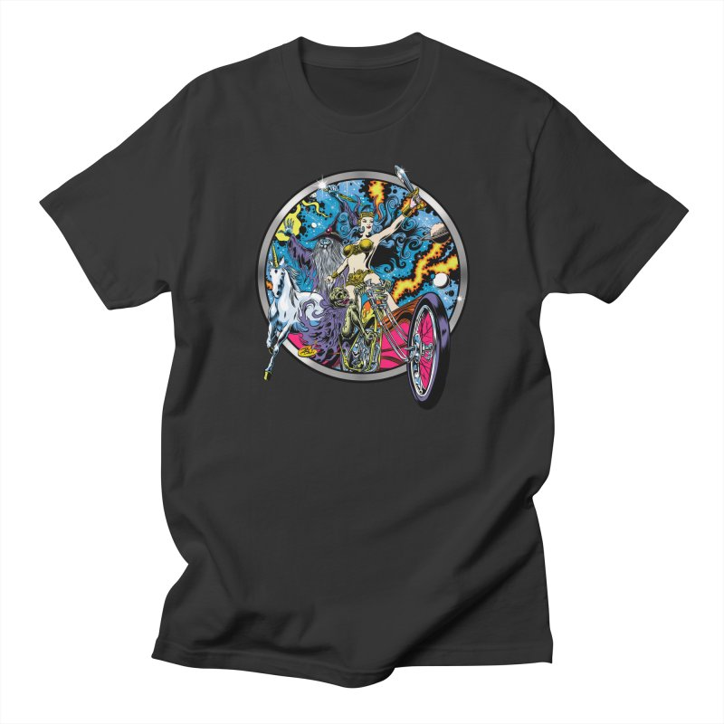 Blacklight Rebellion Men's Regular T-Shirt by Dirty Donny's Apparel Shop