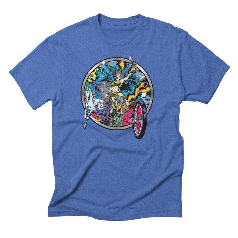 Blacklight Rebellion Men's Triblend T-Shirt by Dirty Donny's Apparel Shop