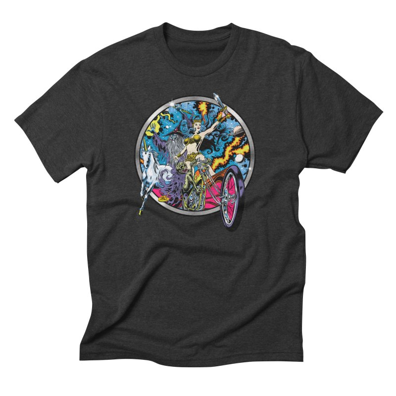 Blacklight Rebellion Men's Triblend T-Shirt by Dirty Donny's Apparel Shop