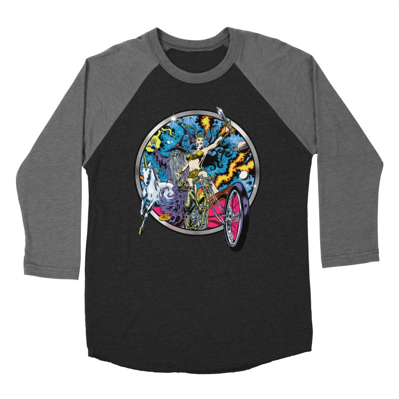 Blacklight Rebellion Men's Baseball Triblend Longsleeve T-Shirt by Dirty Donny's Apparel Shop