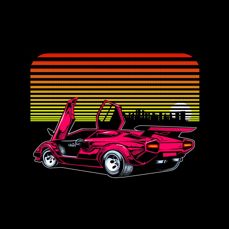 Miami nights Men's T-Shirt by Dirty Donny's Apparel Shop