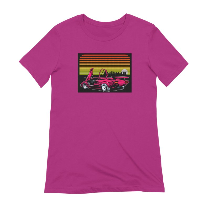 Miami nights Women's Extra Soft T-Shirt by Dirty Donny's Apparel Shop