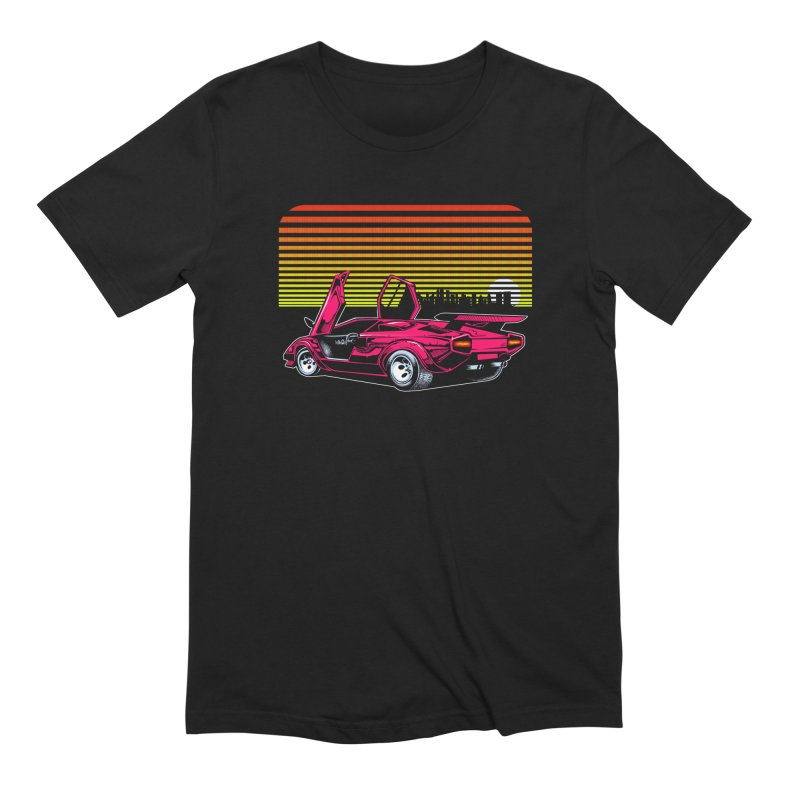 Miami nights Men's Extra Soft T-Shirt by Dirty Donny's Apparel Shop