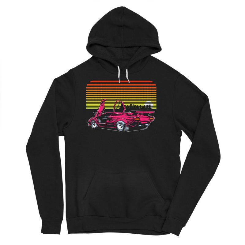Miami nights Men's Sponge Fleece Pullover Hoody by Dirty Donny's Apparel Shop
