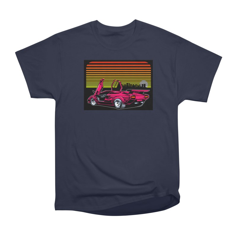 Miami nights Men's Heavyweight T-Shirt by Dirty Donny's Apparel Shop