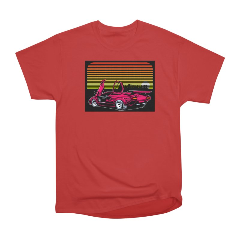 Miami nights Women's Heavyweight Unisex T-Shirt by Dirty Donny's Apparel Shop