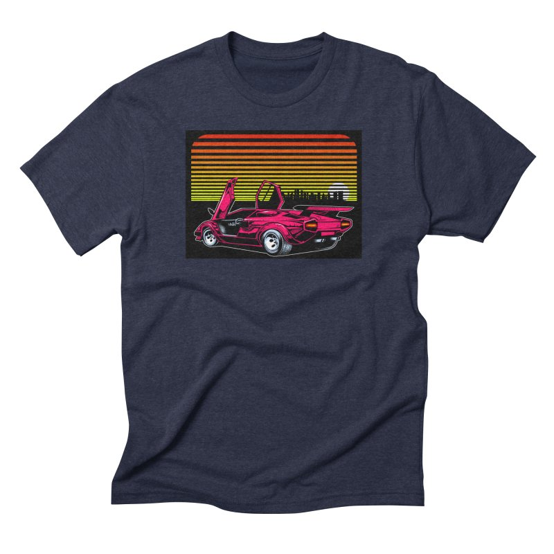 Miami nights Men's Triblend T-Shirt by Dirty Donny's Apparel Shop
