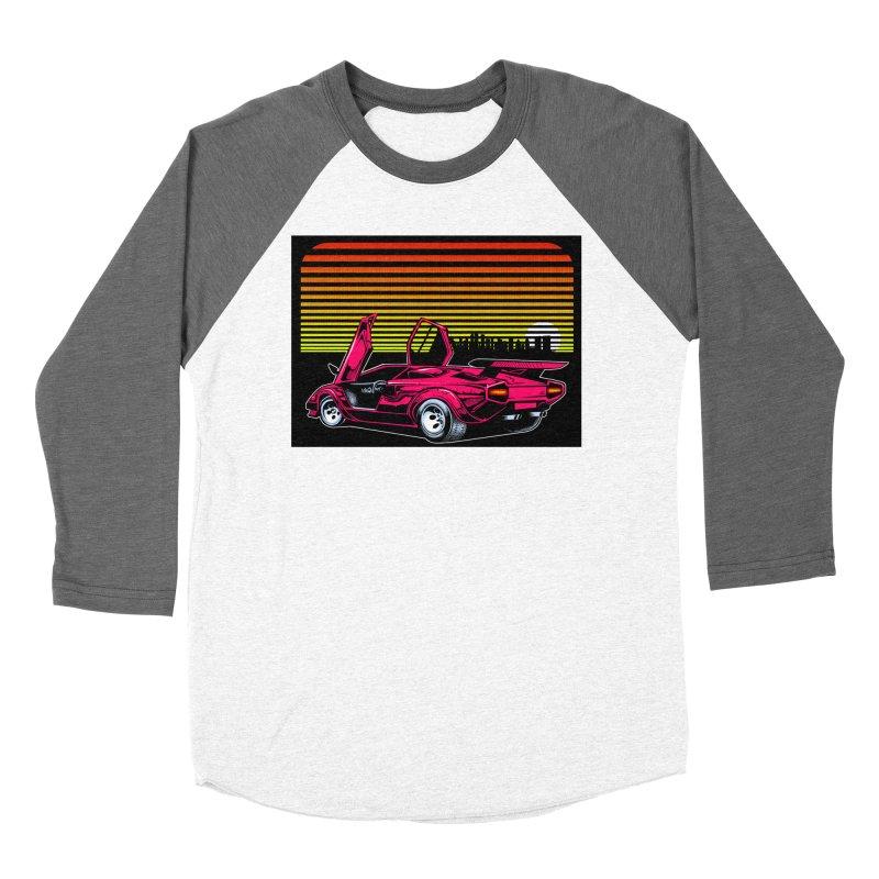 Miami nights Men's Baseball Triblend Longsleeve T-Shirt by Dirty Donny's Apparel Shop
