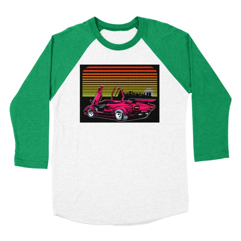 Miami nights Men's Baseball Triblend Longsleeve T-Shirt by Dirty Donny's Apparel Shop
