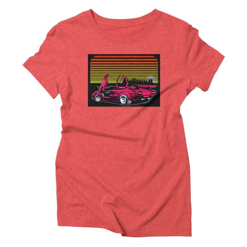 Miami nights Women's Triblend T-Shirt by Dirty Donny's Apparel Shop