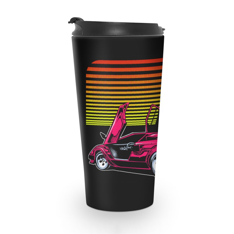 Miami nights Accessories Travel Mug by Dirty Donny's Apparel Shop