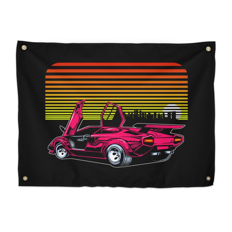 Miami nights Home Tapestry by Dirty Donny's Apparel Shop