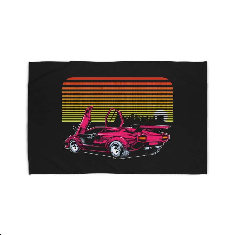 Miami nights Home Rug by Dirty Donny's Apparel Shop