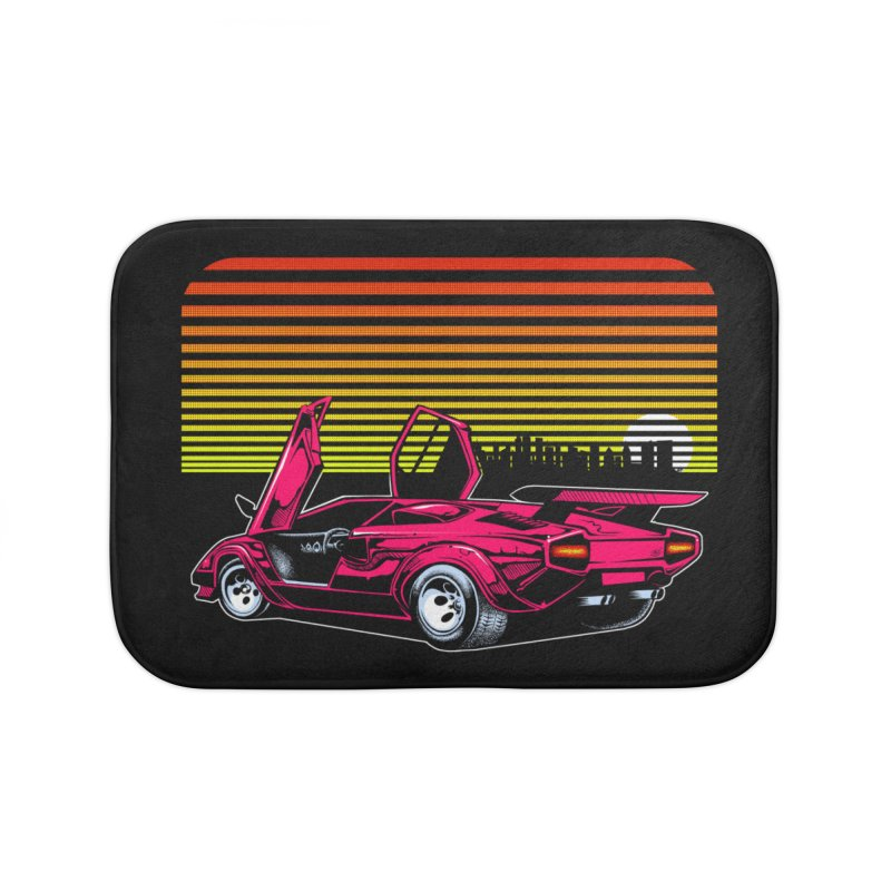 Miami nights Home Bath Mat by Dirty Donny's Apparel Shop