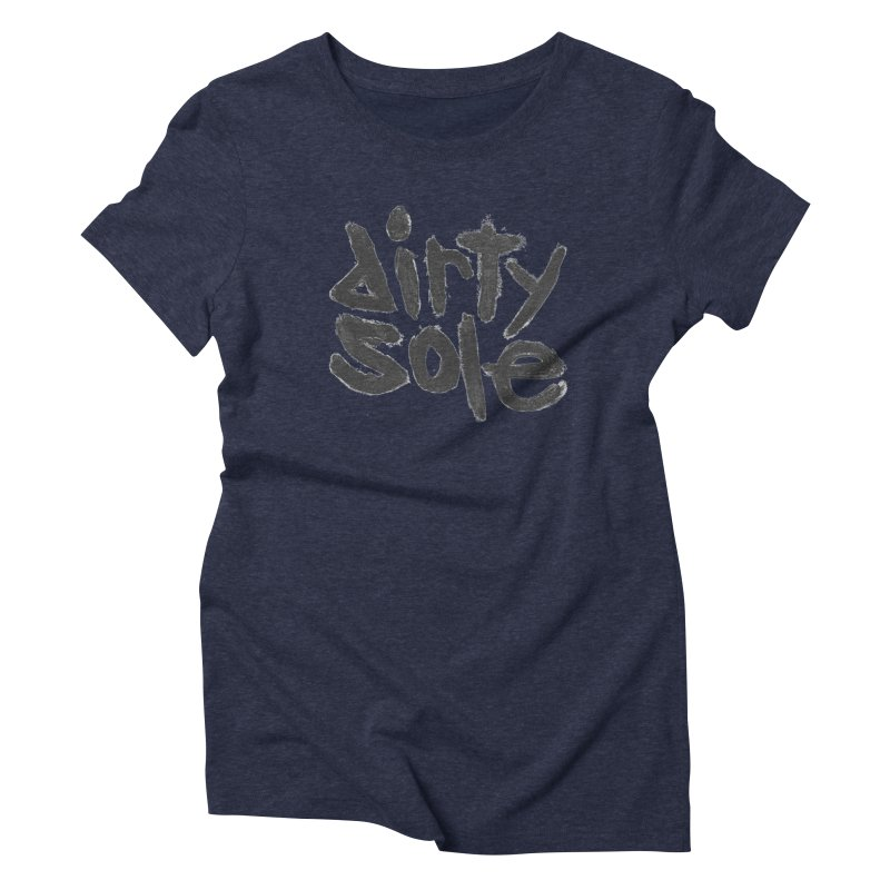 Dirty Sole Logo Classic in Women's Triblend T-Shirt Navy by Dirty Sole: Official Apparel