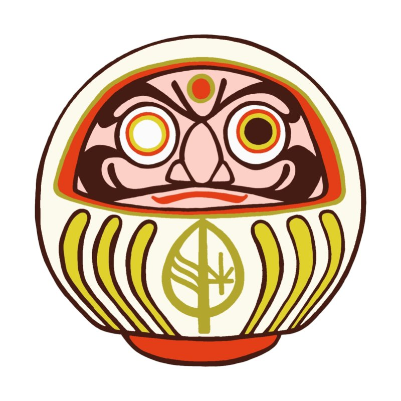 Bodhi Daruma White by DISALVATRONS AMUNWEAR
