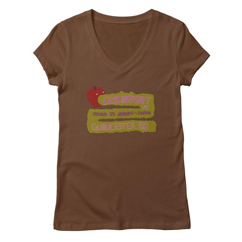 Apple Johnnyseed Women's V-Neck by discomfort's Artist Shop