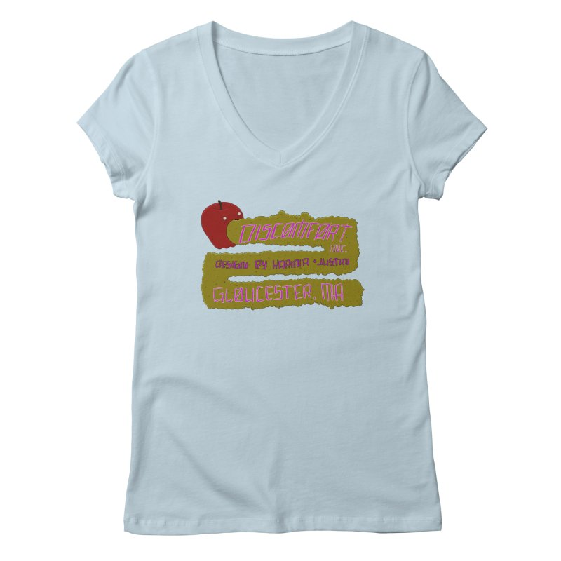 Apple Johnnyseed Women's V-Neck by discomfort's Artist Shop