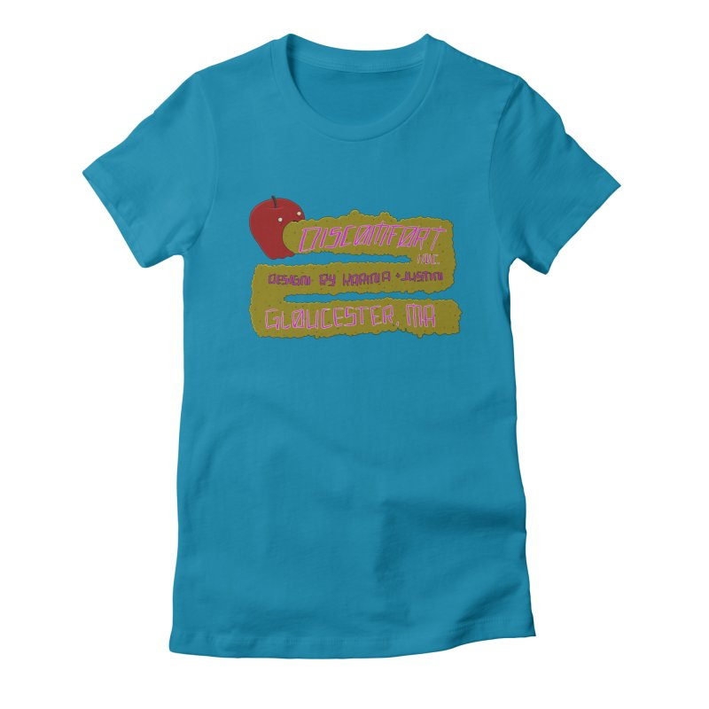 Apple Johnnyseed Women's Fitted T-Shirt by DISCOMFORT! Low Brow Vibes