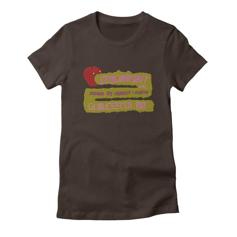 Apple Johnnyseed Women's Fitted T-Shirt by discomfort's Artist Shop