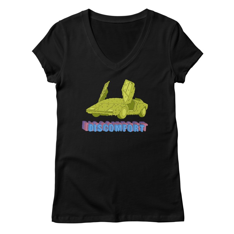 Boogerghini Women's V-Neck by DISCOMFORT! Low Brow Vibes