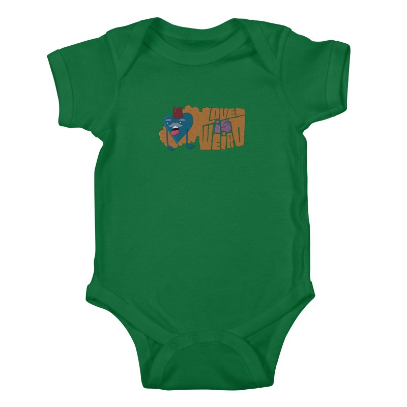 Love is Weird Kids Baby Bodysuit by discomfort's Artist Shop