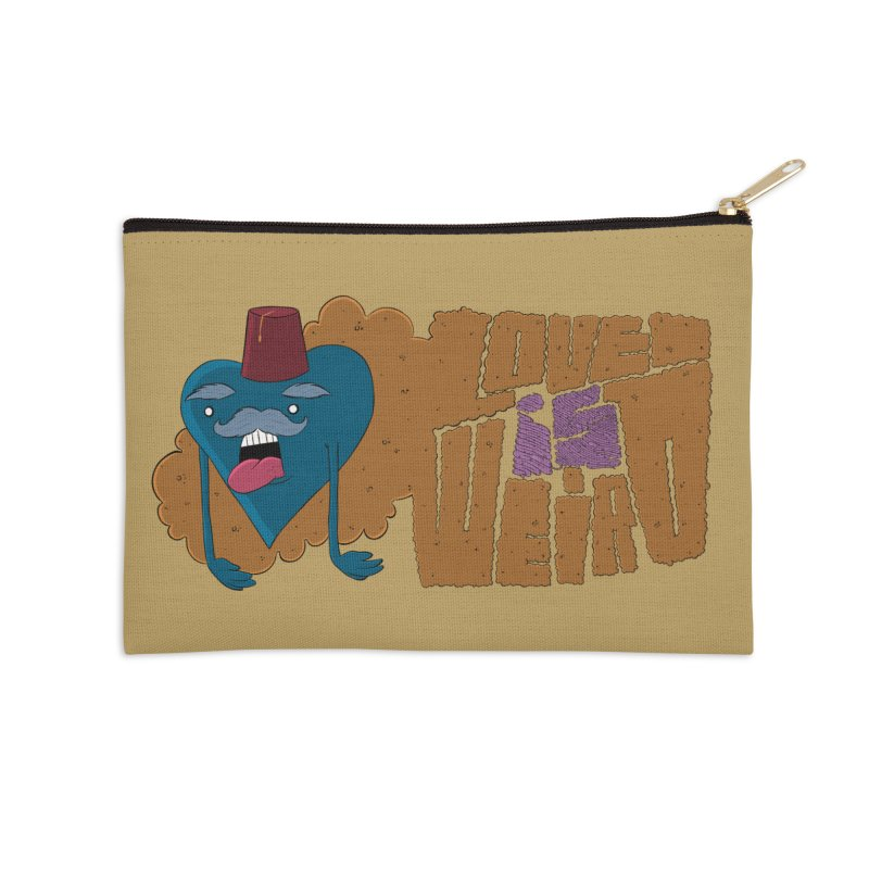 Love is Weird Accessories Zip Pouch by discomfort's Artist Shop