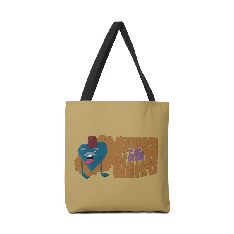 Love is Weird Accessories Bag by discomfort's Artist Shop
