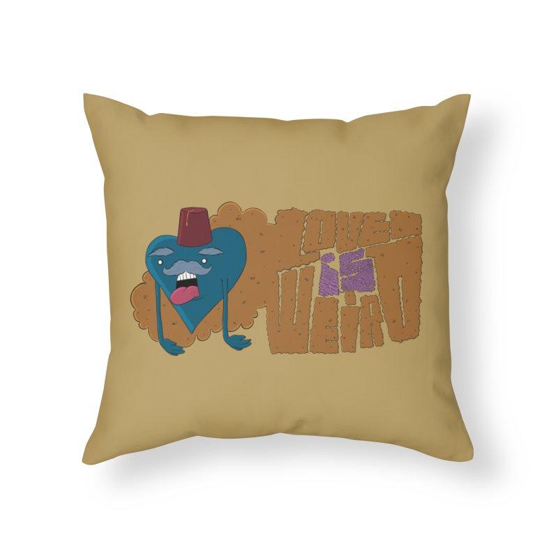Love is Weird Home Throw Pillow by discomfort's Artist Shop