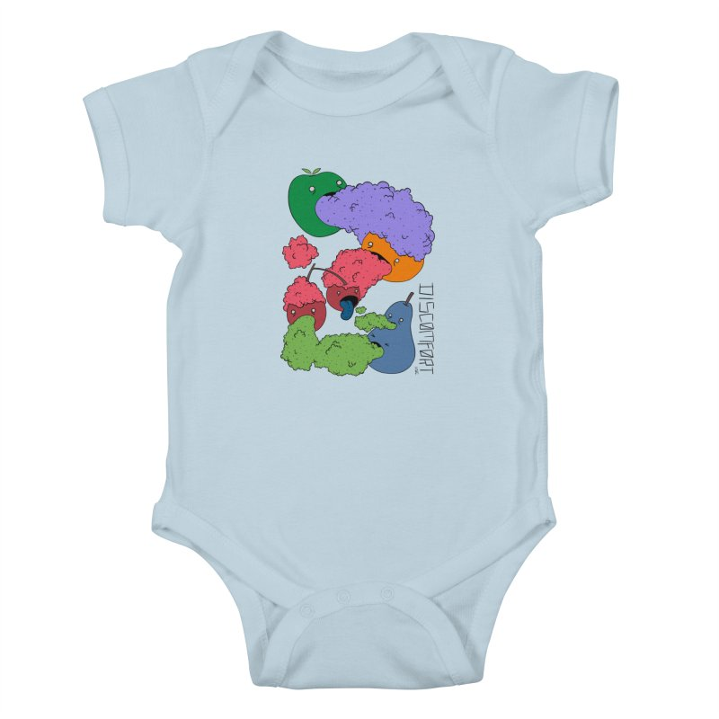 Like Yawning (Color) Kids Baby Bodysuit by —Discomfort Incorporated—    Low Brow Vibes