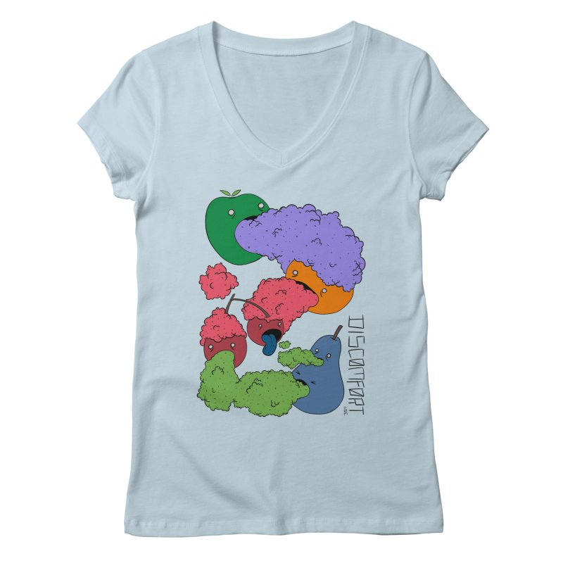 Like Yawning (Color) Women's V-Neck by —Discomfort Incorporated—    Low Brow Vibes