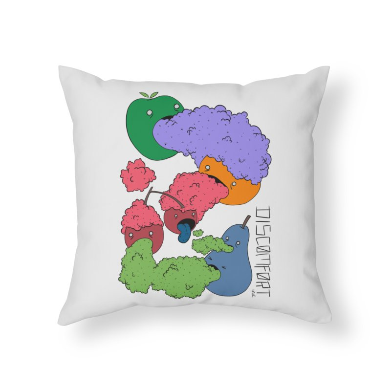 Like Yawning (Color) Home Throw Pillow by —Discomfort Incorporated—    Low Brow Vibes