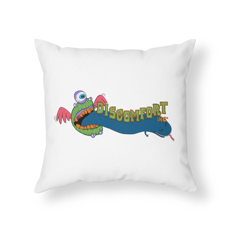 Floss More Home Throw Pillow by —Discomfort Incorporated—    Low Brow Vibes