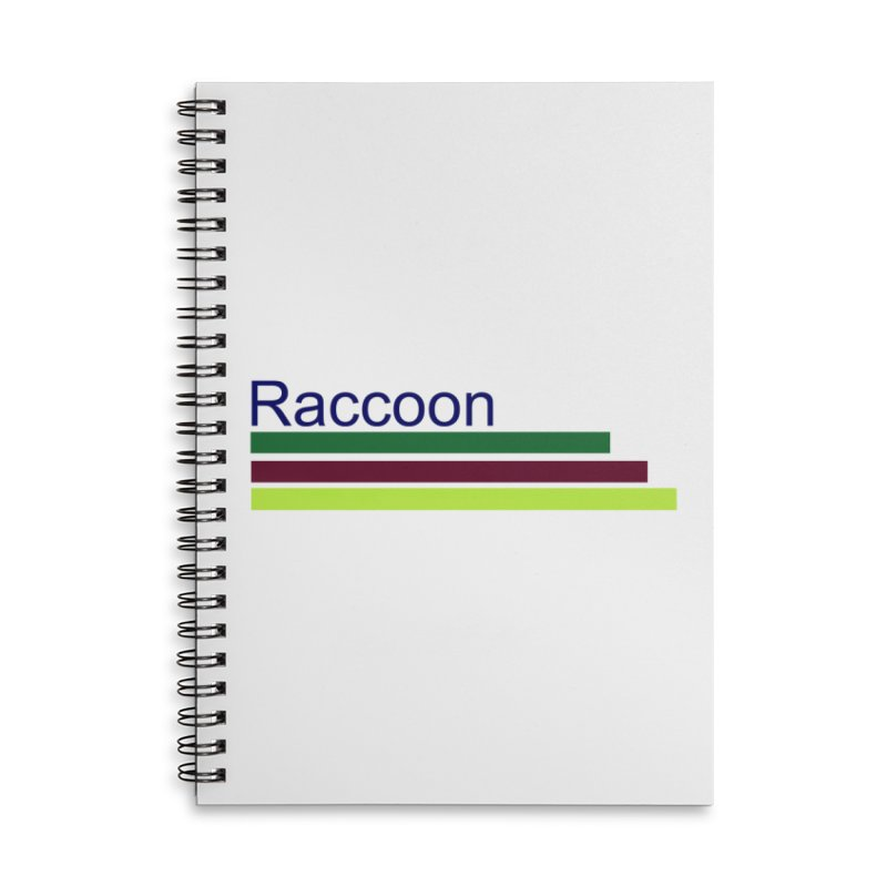 Raccoon Accessories Lined Spiral Notebook by disonia's Artist Shop