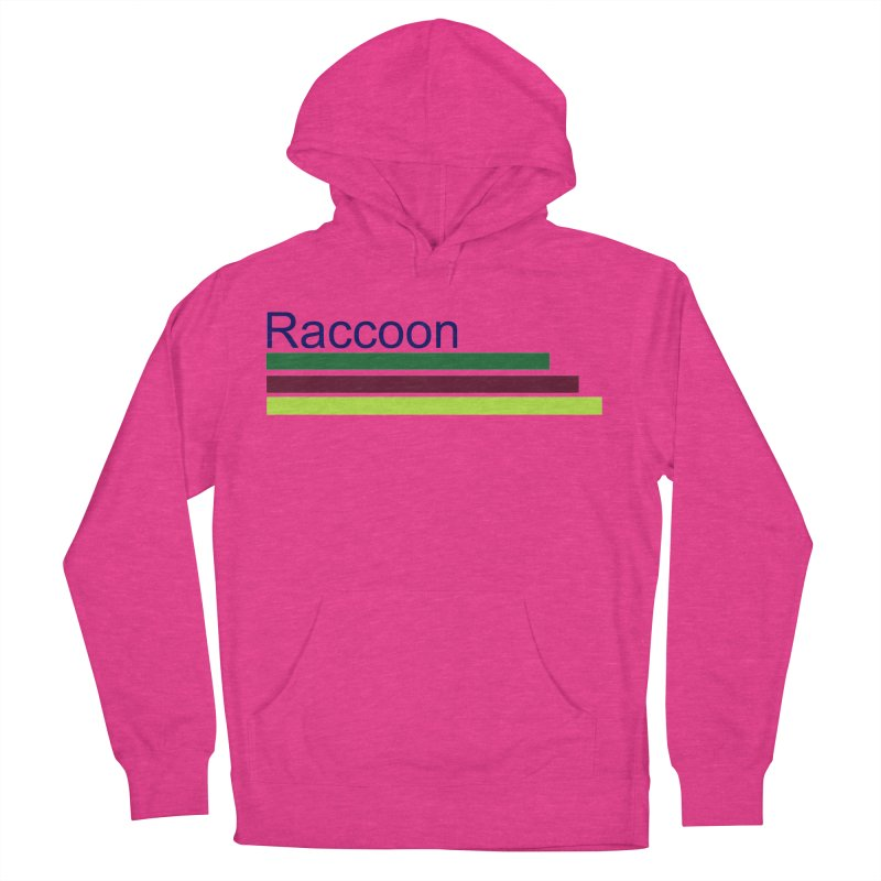 Raccoon Women's French Terry Pullover Hoody by disonia's Artist Shop