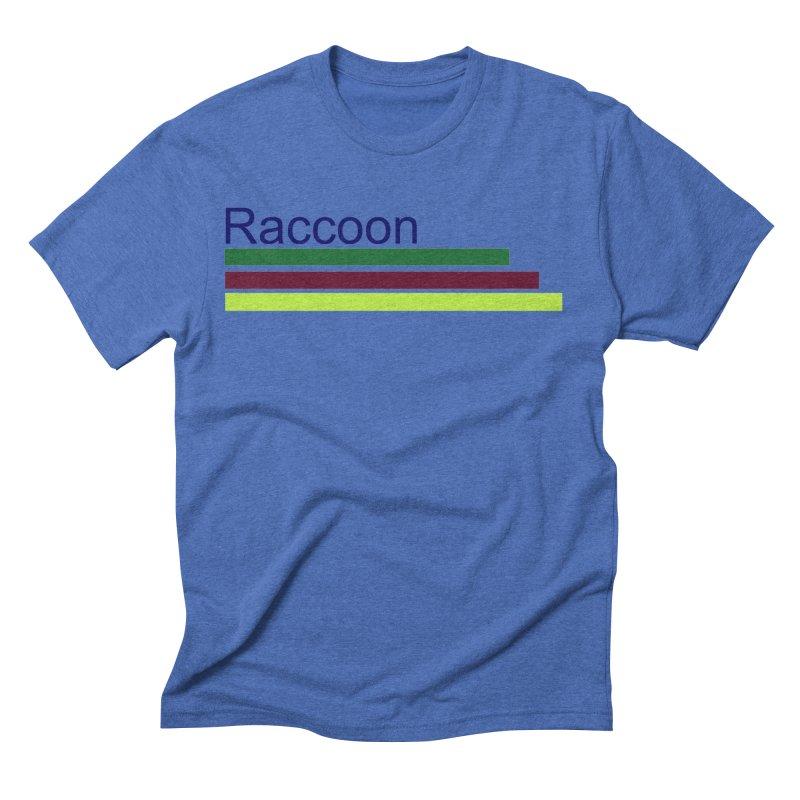 Raccoon Men's Triblend T-Shirt by disonia's Artist Shop