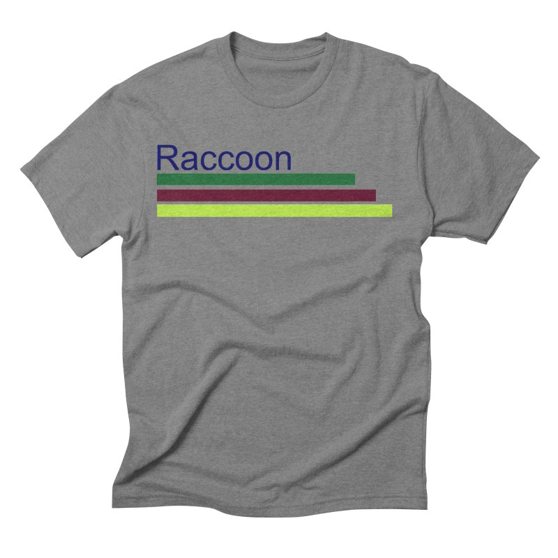 Raccoon Men's Triblend T-Shirt by disonia's Artist Shop