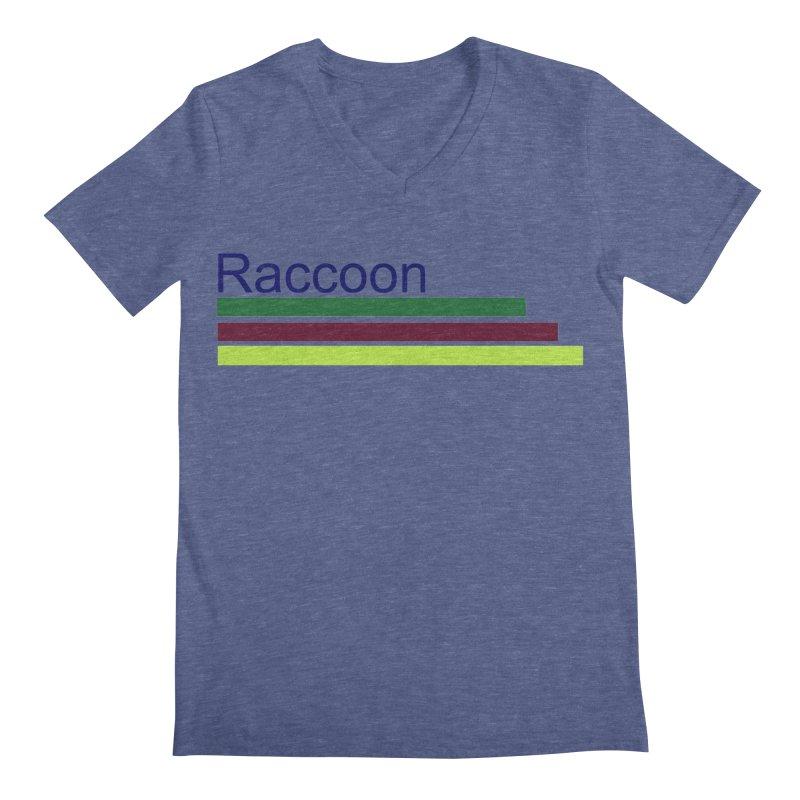 Raccoon Men's Regular V-Neck by disonia's Artist Shop
