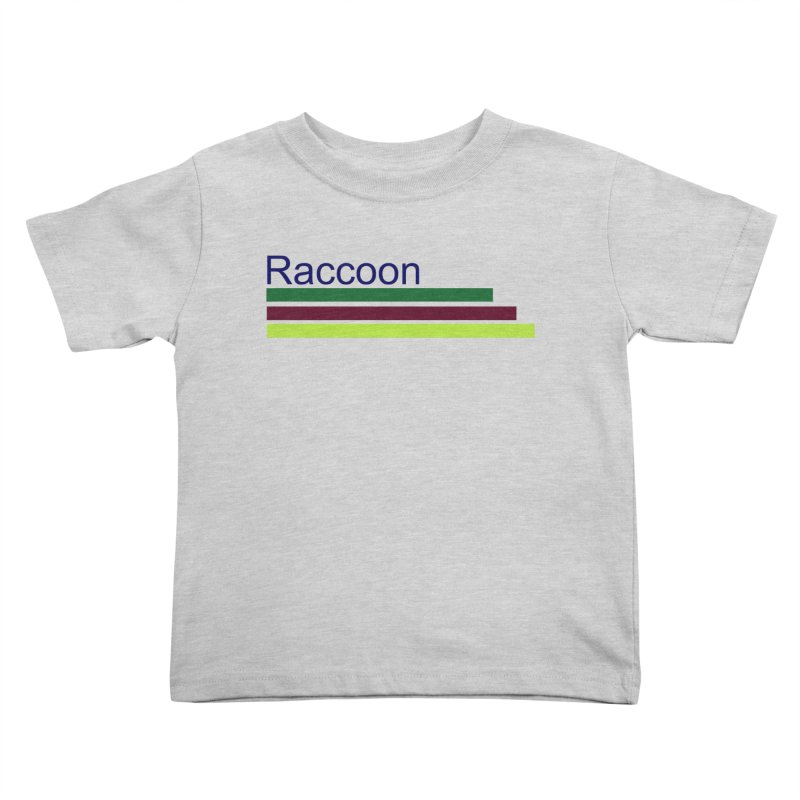 Raccoon Kids Toddler T-Shirt by disonia's Artist Shop