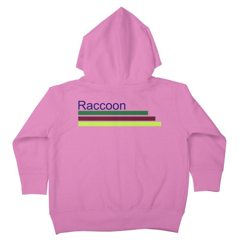 Raccoon Kids Toddler Zip-Up Hoody by disonia's Artist Shop